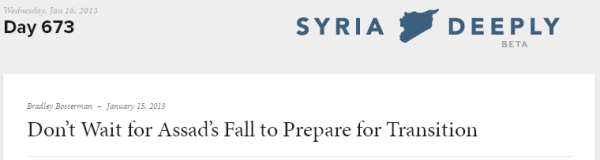 Don't Wait for Assad's Fall to Prepare for Transition   Syria News